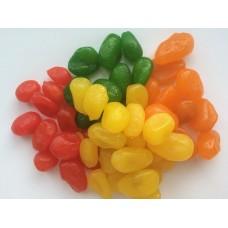 Кумкуат красный, зеленый, оранжевый и желтый в сиропе